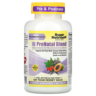 Super Nutrition, PreNatal Blend, 180정