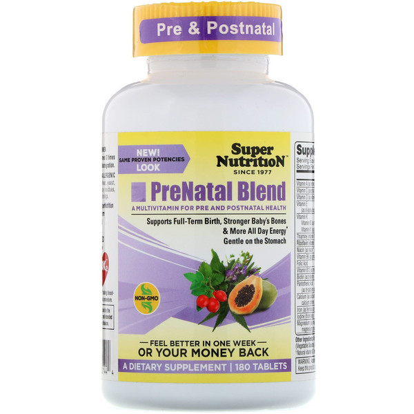 Super Nutrition, PreNatal Blend, 180 Tablets