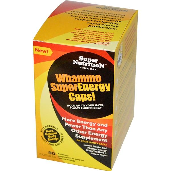 Super Nutrition, Whammo SuperEnergy Caps, 90 Capsules (Discontinued Item)