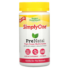 Super Nutrition, SimplyOne, PreNatal, Triple Power Multivitamins, 90 Tablets