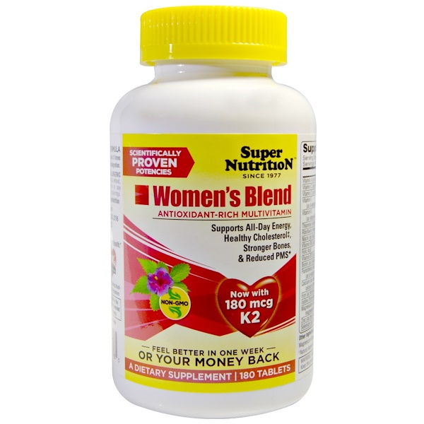 Super Nutrition, Women's Blend, 180 Tablets (Discontinued Item)