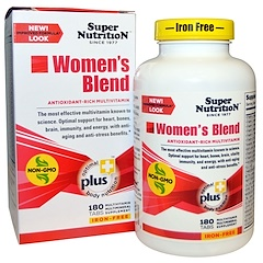 Super Nutrition, Women's Blend, Iron Free, 180 Tabs