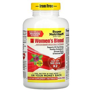Super Nutrition, 女性混合配方,无铁,180 片