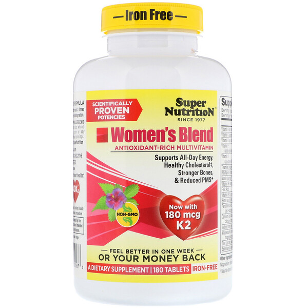 Super Nutrition, Women's Blend, Iron Free, 180 Tablets