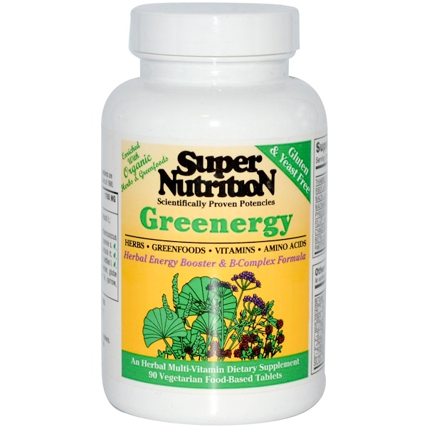 Super Nutrition, Greenergy, 90 Veggie Food Based Tabs (Discontinued Item)