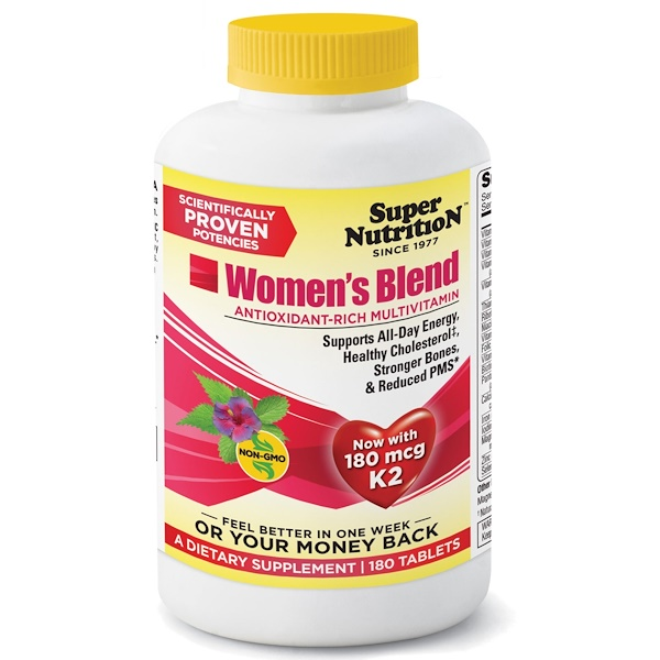 Super Nutrition, Women's Blend 2, Antioxidant Rich Multivitamin, 180 Tablets (Discontinued Item)