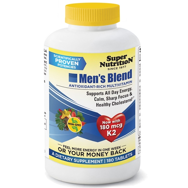Super Nutrition, Men's Blend, Antioxidant-Rich Multivitamin, 180 Tablets (Discontinued Item)