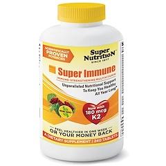 Super Nutrition, Super Immune, Immune-Strengthening Multivitamin, 240 Tablets