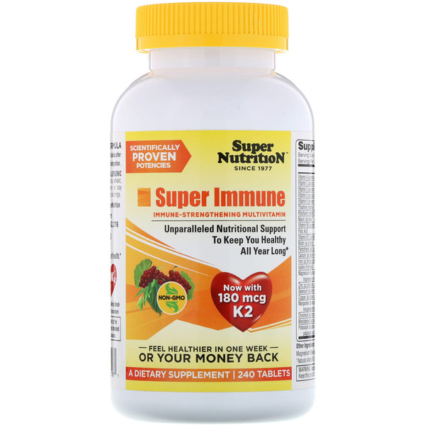 Super Immune, Immune-Strengthening Multivitamin, 240 Tablets