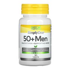 Super Nutrition, SimplyOne, 50+ Men, 30 Tablets