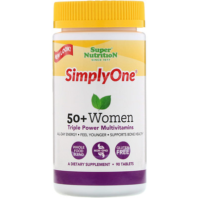 Simply One, 50+ Women, Triple Power Multivitamins, 90 Tablets