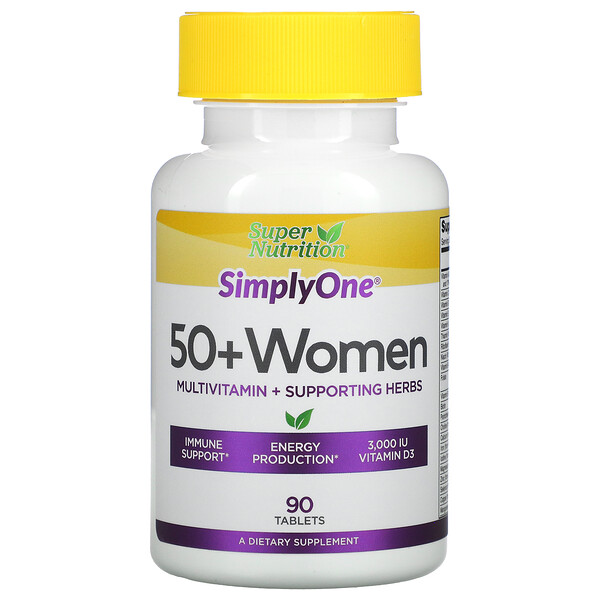 SimplyOne, 50+ Women, Multivitamin + Supporting Herbs , 90 Tablets