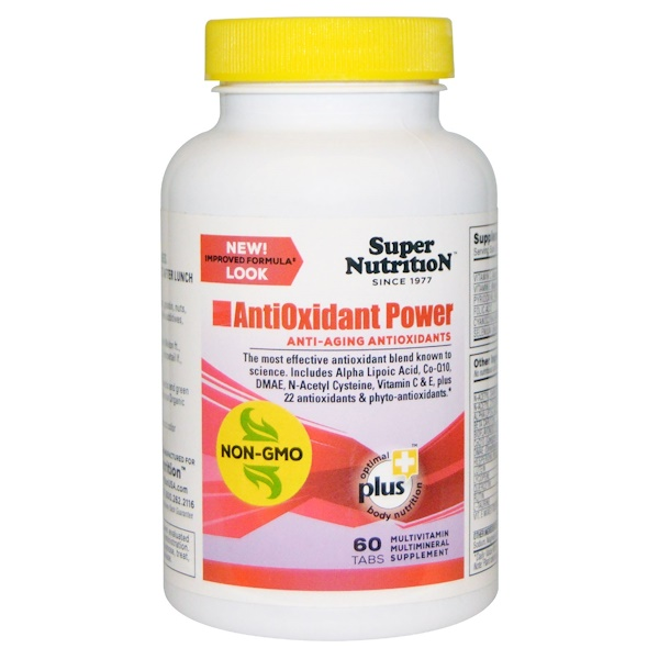 Super Nutrition, AntiOxidant Power, 60 Tablets (Discontinued Item)