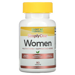 Super Nutrition, SimplyOne, Women, Multivitamin + Supporting Herbs, 90 Tablets