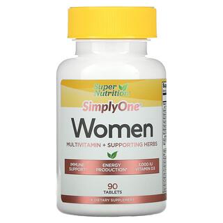 Super Nutrition, SimplyOne,女性,三重效力多維生素,90 片