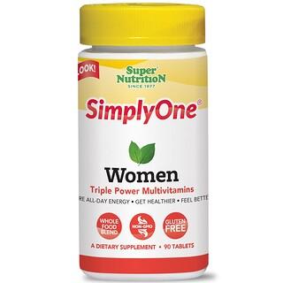Super Nutrition, シンプリーワン(SimplyOne), 女性のトリプルパワー!, 90錠