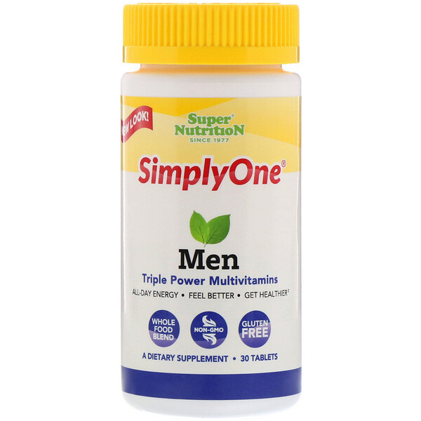 SimplyOne, Men, Triple Power Multivitamin, 30 Tablets