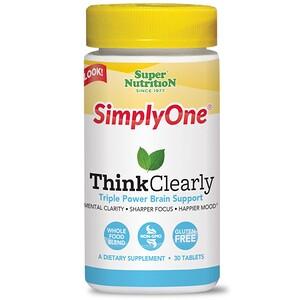 Супер Нутришэн, SimplyOne, Think Clearly, 30 Tablets отзывы