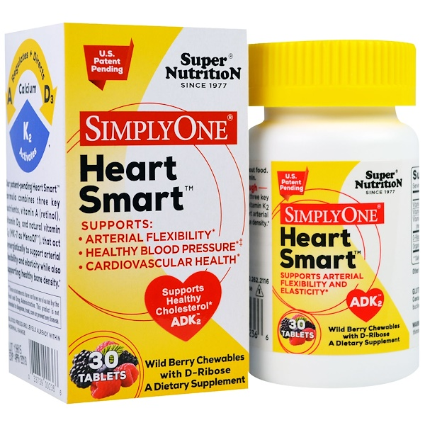 Super Nutrition, SimplyOne, Heart Smart, Wild Berry with D-Ribose, 30 Tablets (Discontinued Item)