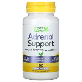 Super Nutrition, Adrenal Support, Unterstützung der Nebennieren, gesunde Appetitkontrolle, 90pflanzliche Kapseln