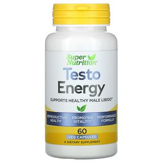 Super Nutrition, Testo Energy, 60 Veg Capsules