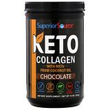 Superior Source, 酮膠原蛋白粉末含 MCT,巧克力味,14 盎司(397 克)