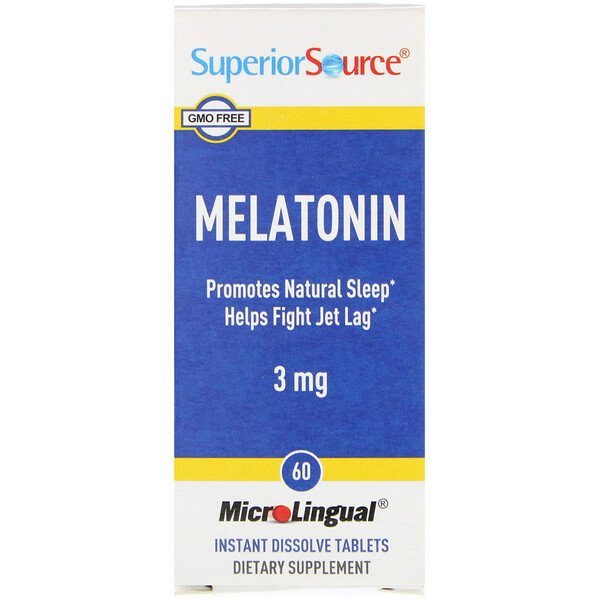 Melatonin, 3 mg, 60 MicroLingual Instant Dissolve Tablets