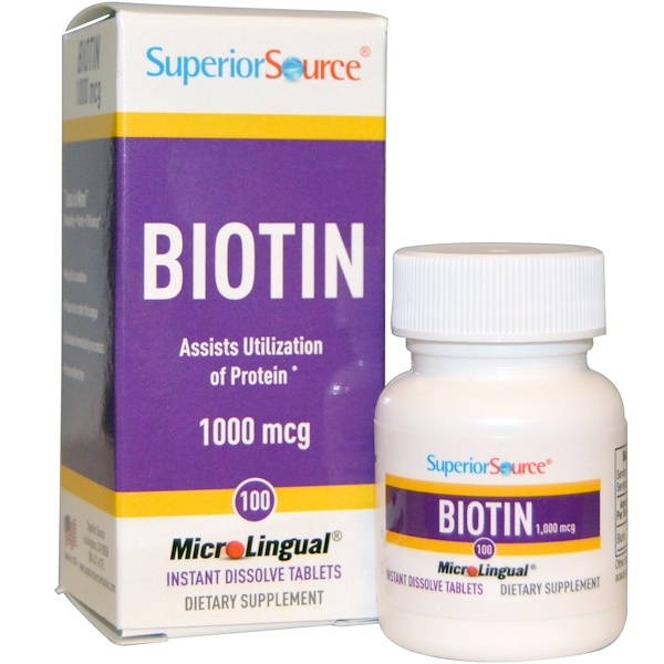 Superior Source, Biotin, 1000 mcg, 100 MicroLingual Instant Dissolve Tablets