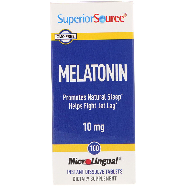 Melatonin, 10 mg, 100 MicroLingual Instant Dissolve Tablets