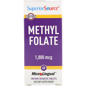 Супер Сорс, Methyl Folate, 1,000 mcg, 60 Tablets отзывы