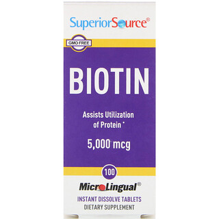 Superior Source, Biotin, 5000 mcg, 100 MicroLingual Instant Dissolve Tablets
