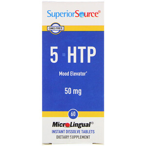 Супер Сорс, 5-HTP, 50 mg, 60 MicroLingual Instant Dissolve Tablets отзывы