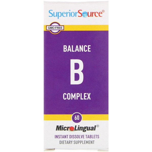 Superior Source, Balance B Complex, 60 MicroLingual Instant Dissolve Tablets (Discontinued Item)