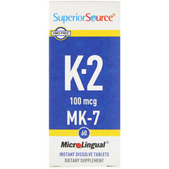 Superior Source, 維生素K2,100微克,60即溶片劑