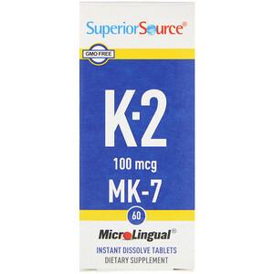 Супер Сорс, Vitamin K-2, 100 mcg, 60 Microlingual Instant Dissolve Tablets отзывы