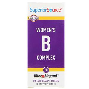 Супер Сорс, Women's B Complex, 60 MicroLingual Instant Dissolve Tablets отзывы покупателей