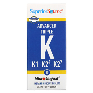 Superior Source, Advanced Triple K, 30 MicroLingual Instant Dissolve Tablets