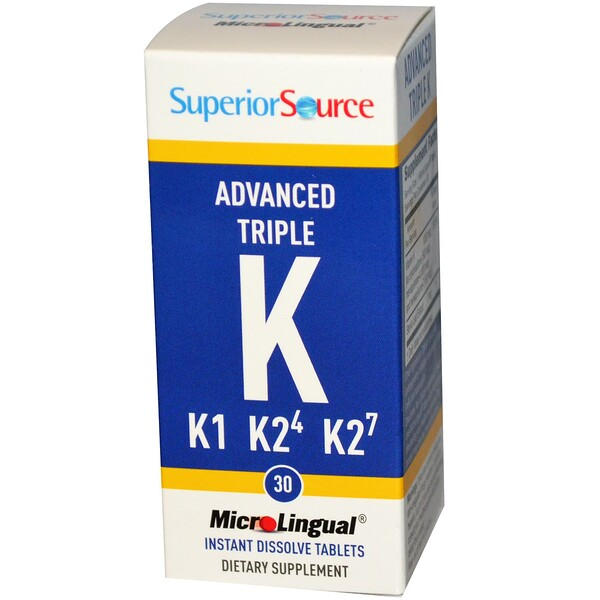 Superior Source, Advanced Triple K, 30 MicroLingual Instant Dissolve Tablets (Discontinued Item)