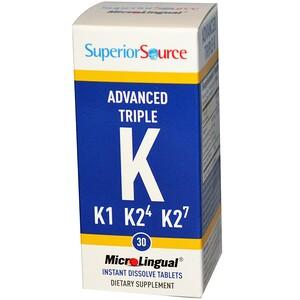 Супер Сорс, Advanced Triple K, 30 MicroLingual Instant Dissolve Tablets отзывы