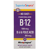 Superior Source, Cyanocobalamin B-12 1000 mcg, B-6 & Folic Acid 800 mcg, 60 MicroLingual Instant Dissolve Tablets