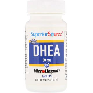 Superior Source, DHEA, 50 mg, 100 MicroLingual Tablets