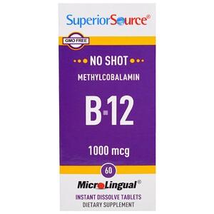 Супер Сорс, Methylcobalamin B-12, 1000 mcg, 60 Tablets отзывы покупателей