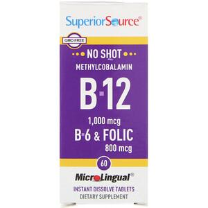 Супер Сорс, Methylcobalamin B-12, B-6 & Folic Acid, 1,000 mg/800 mg, 60 Tablets отзывы