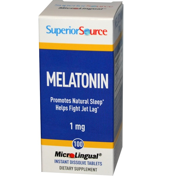 Superior Source, Melatonin, 1 mg, 100 MicroLingual Instant Dissolve Tablets