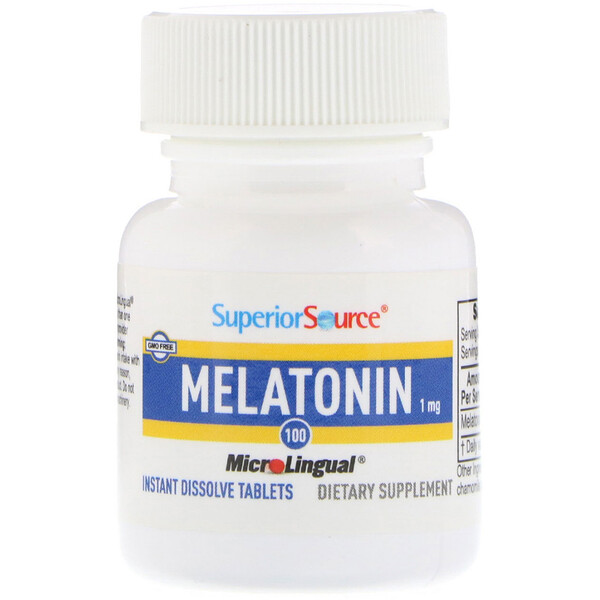 Melatonin, 1 mg, 100 MicroLingual Instant Dissolve Tablets