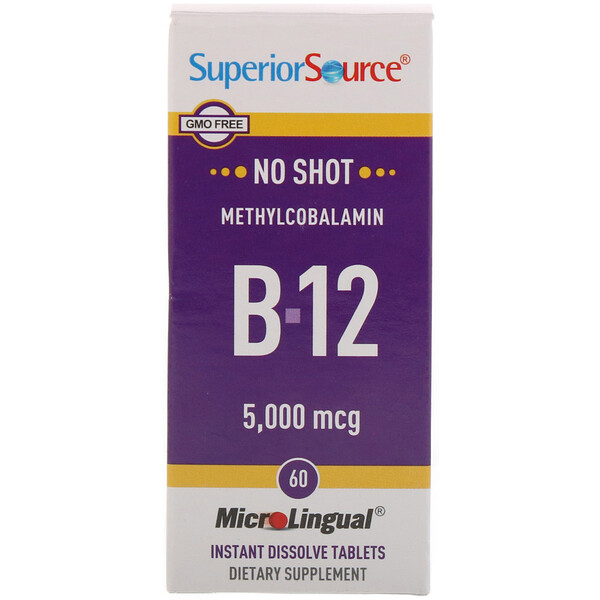 Superior Source, Methylcobalamin B-12, 5,000 mcg, 60 Tablets