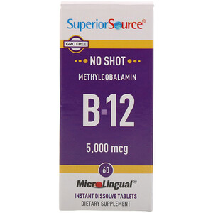 Супер Сорс, Methylcobalamin B-12, 5,000 mcg, 60 Tablets отзывы