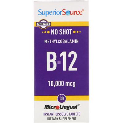 Метилкобаламин B12, 5000 мкг, B-6 и фолиевая кислота 800 мкг, 60 таблеток МикроЛингвал  - купить со скидкой