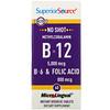 Superior Source, No Shot B-12 (метилкобаламин), витаминB6 и фолиевая кислота, 5000мкг/800мкг,60быстрорастворимых таблеток MicroLingual