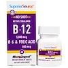 Superior Source, Methylcobalamin B-12 5000 mcg, B-6 & Folic Acid 800 mcg , 60 MicroLingual Instant Dissolve Tablets